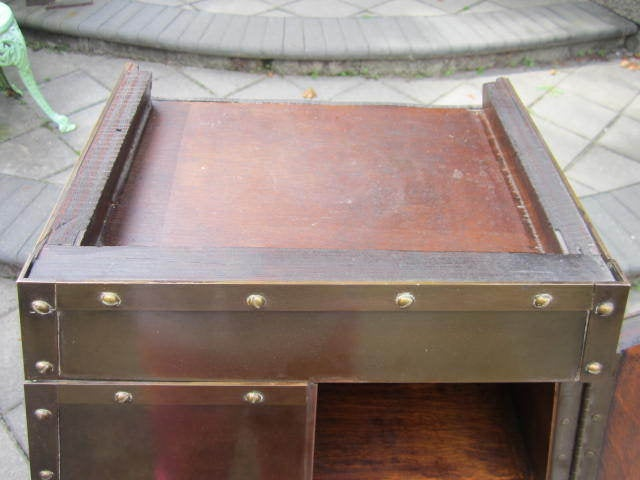 Patinated Brass Hanging Cabinet 4