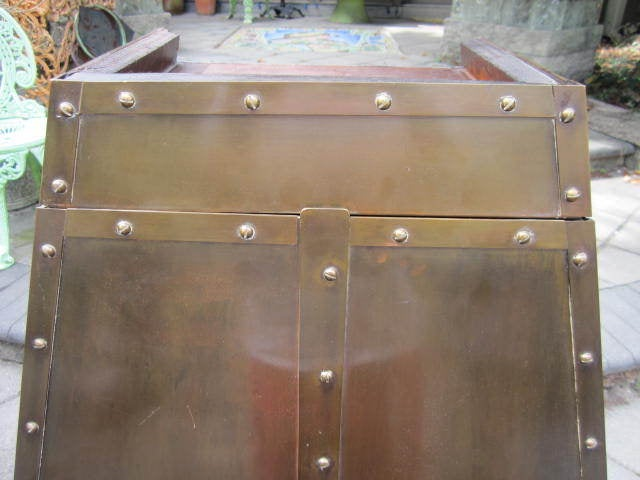 Patinated Brass Hanging Cabinet 5