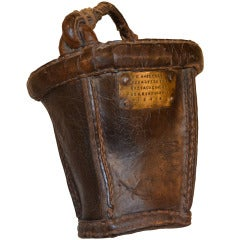 German Leather Fire Bucket Dated 1846