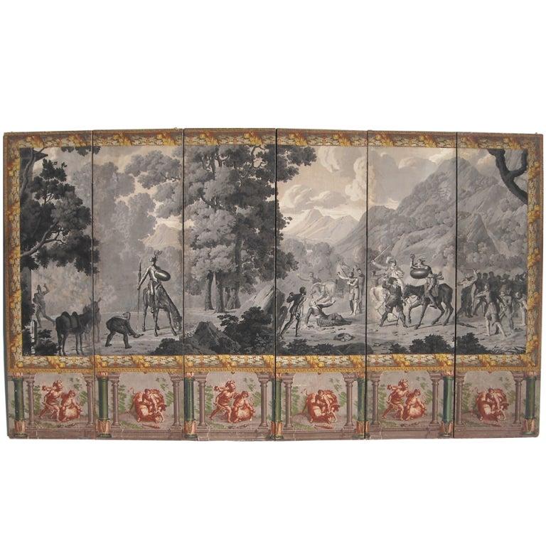 zuber wallpaper screen don quixote at 1stdibs
