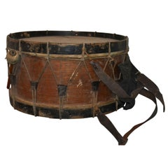 Large Danish 19th Century Drum