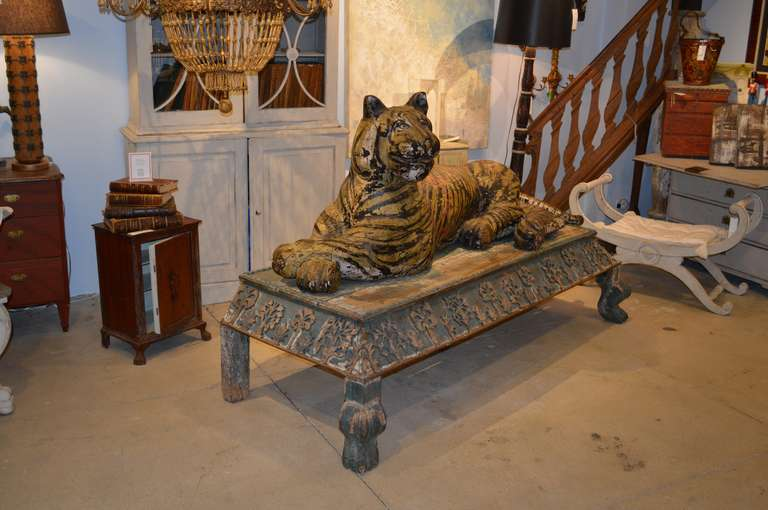 19th Century Nepalese Sculpture Of A Bengal Tiger At 1stdibs