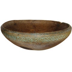 17th Century Wooden Bowl, Sweden