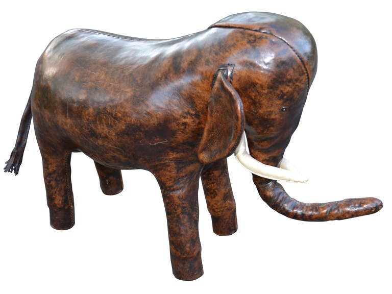 Abercrombie And Fitch Ottoman Vintage Elephant Of Leather