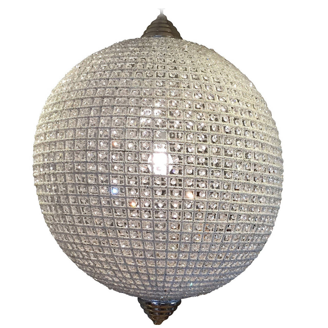 Stunning Large Crystal Ball Chandelier at 1stdibs – Ball Chandelier