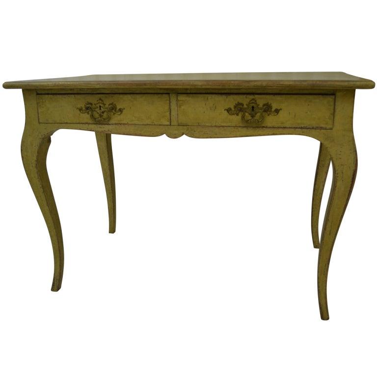 Swedish Yellow Desk For