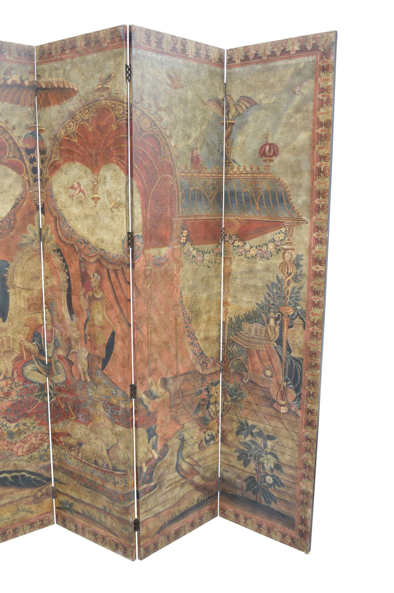 Decorative Six Panel Room Divider Or Folding Screen At 1stdibs