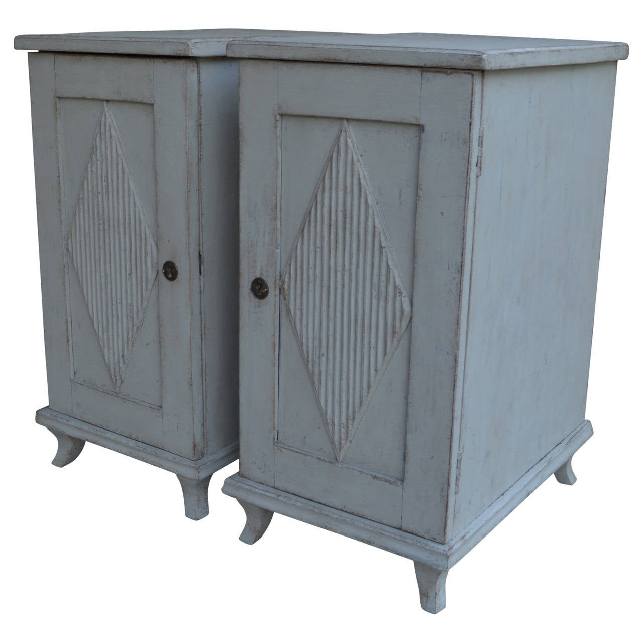 Pair Of Gustavian Bedside Tables Or End Tables At 1stdibs