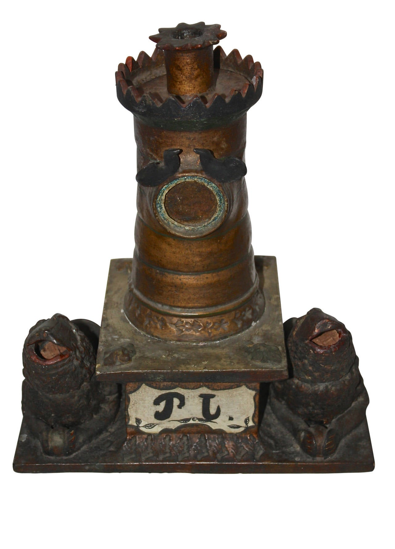 Ceramic Inkwell, Late 19th Century, Sweden For Sale 2