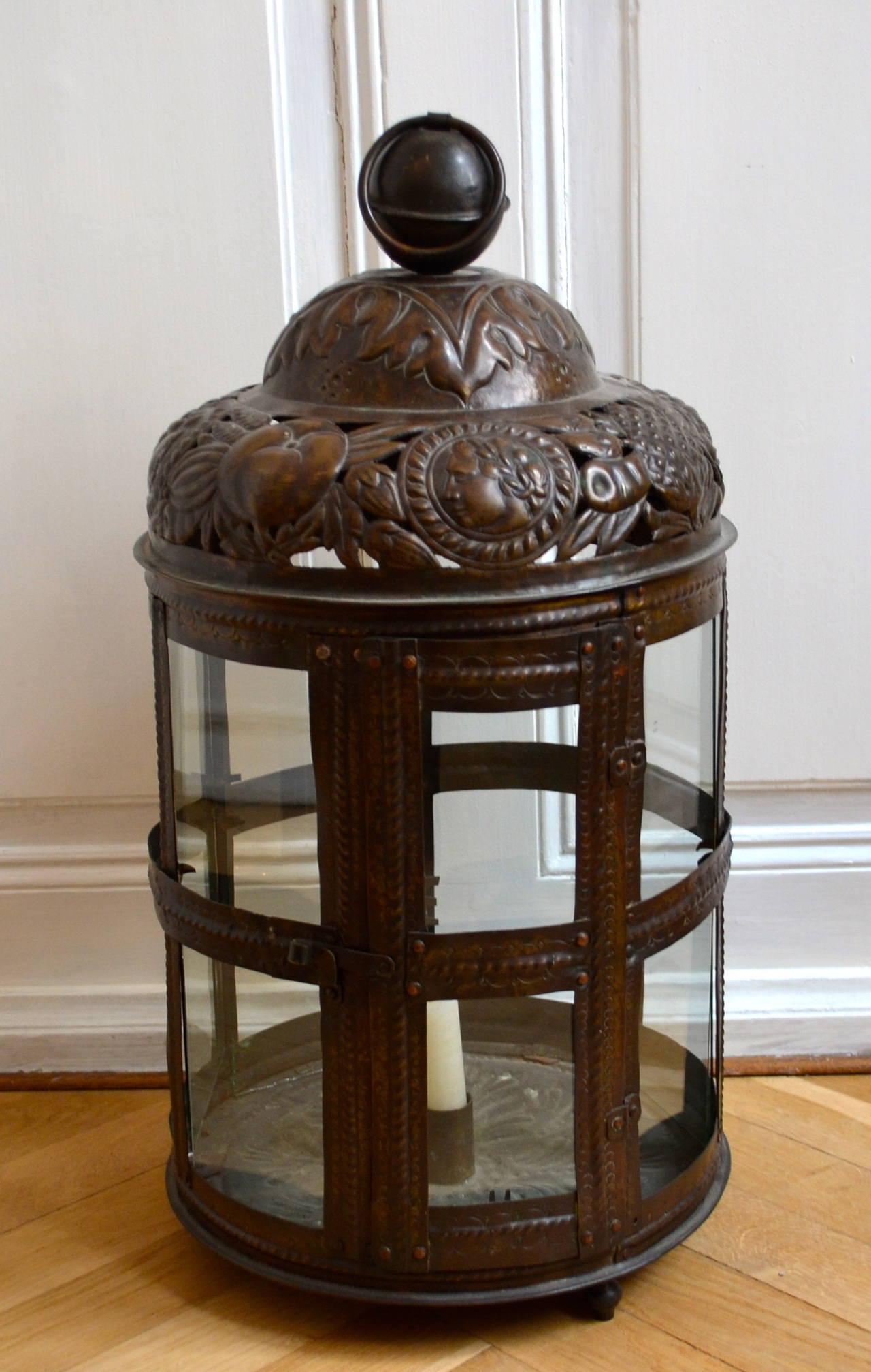 Large 19th Century Bronze Lantern For Sale At 1stdibs