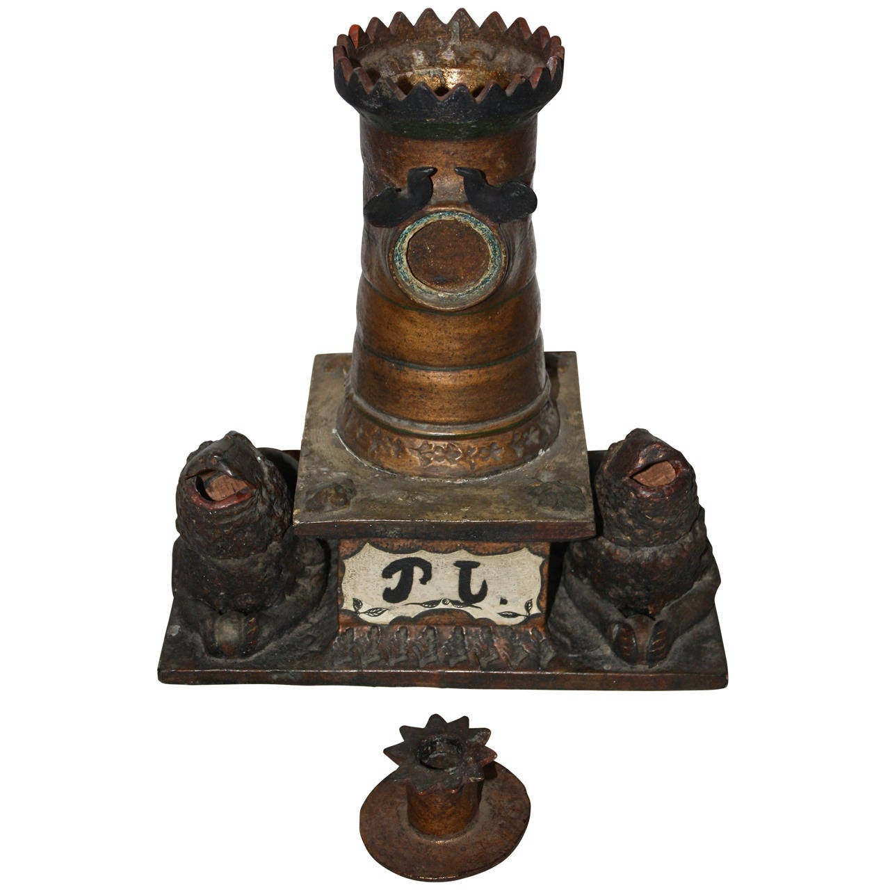 Ceramic Inkwell, Late 19th Century, Sweden