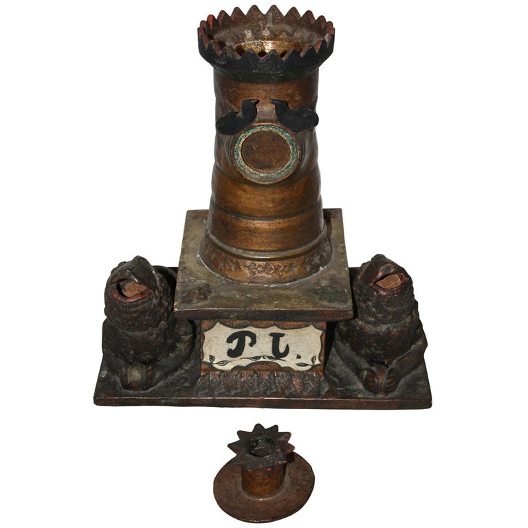 Ceramic Inkwell, Late 19th Century, Sweden For Sale