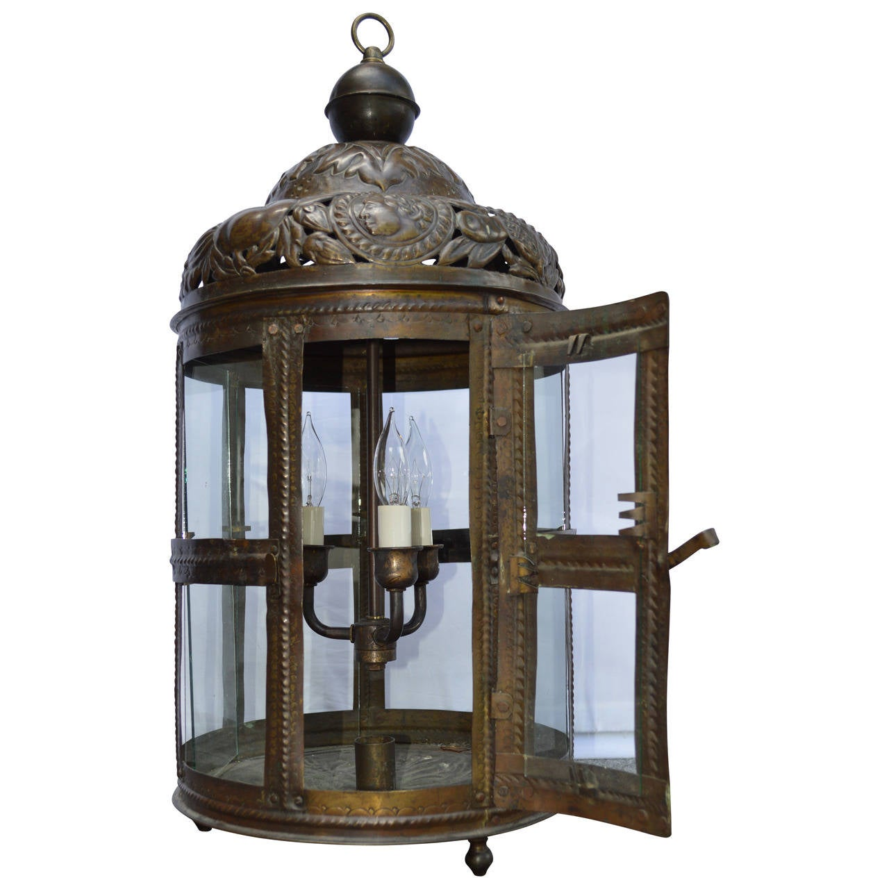 Large 19th Century Bronze Lantern For Sale At 1stdibs