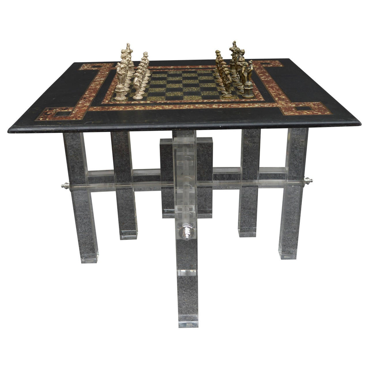 Small Chess Board Side Table For Sale At 1stdibs