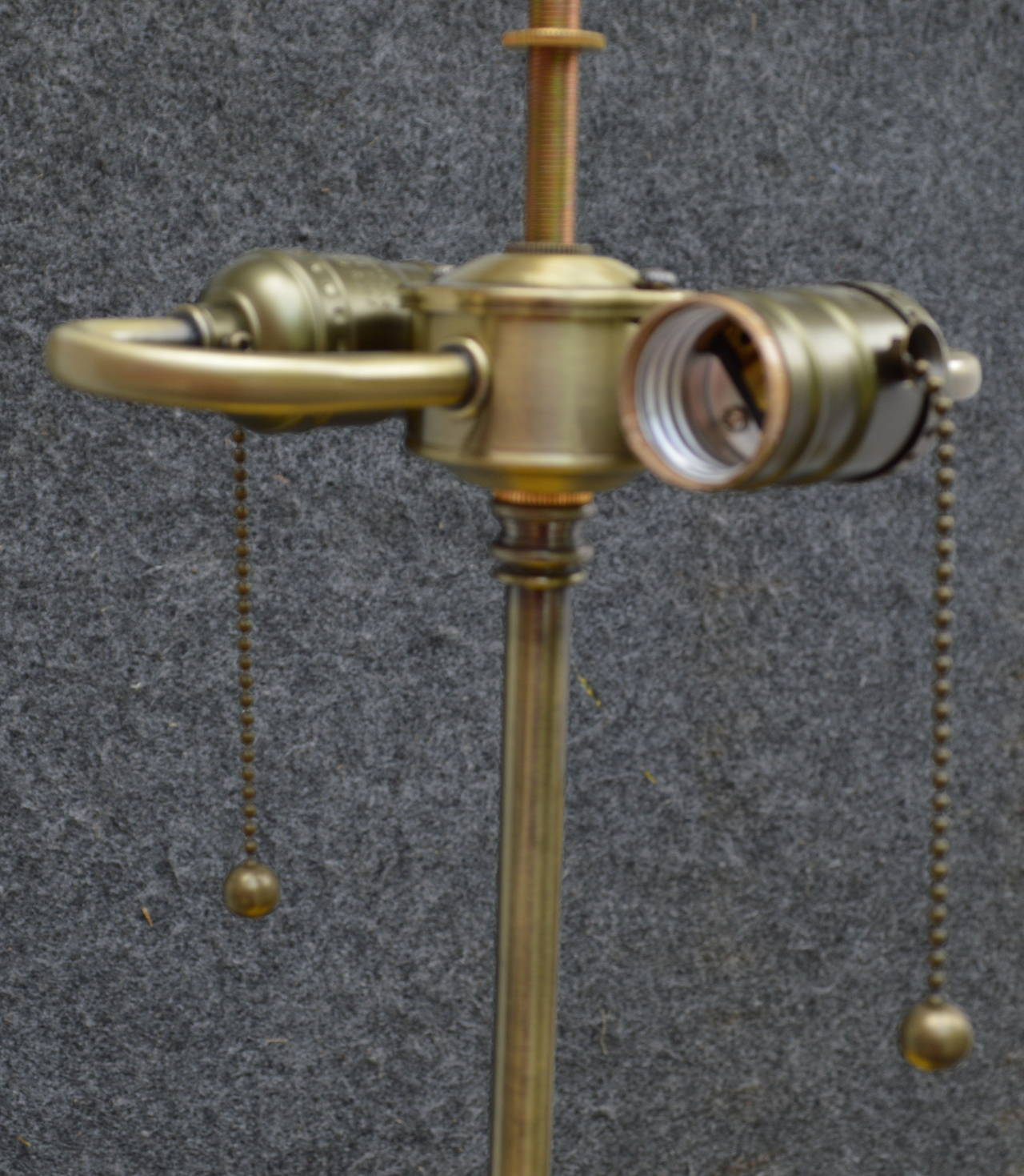 Pair of Swan Detail Floor Lamps In Excellent Condition For Sale In Haddonfield, NJ