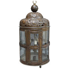 Large 19th Century Bronze Lantern