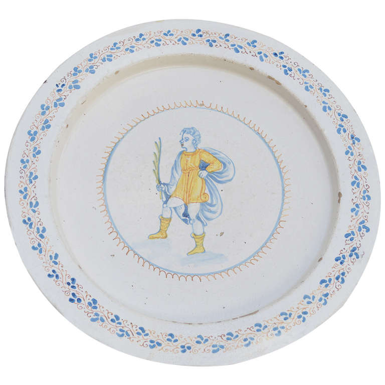 Large 18th Century Faience Plate