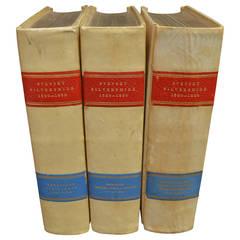 "Set of Three Leather Bound Books, ""Svenskt Silversmide,"" 1520-1850"