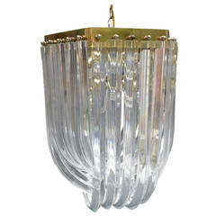 Lucite Ribbon Drop Chandelier