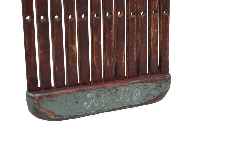 Carved 18th Century Danish Folk Art Tape Loom For Sale