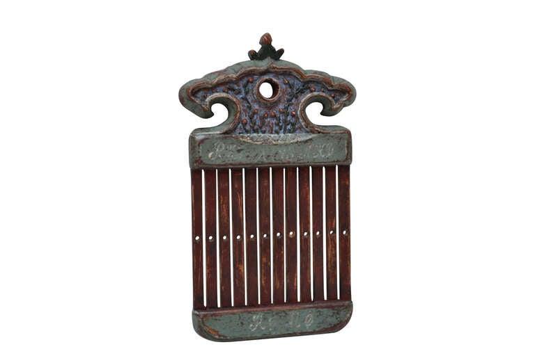 Wood 18th Century Danish Folk Art Tape Loom For Sale