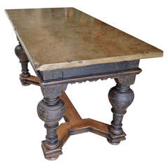 Swedish 18th Century Stone Top Table