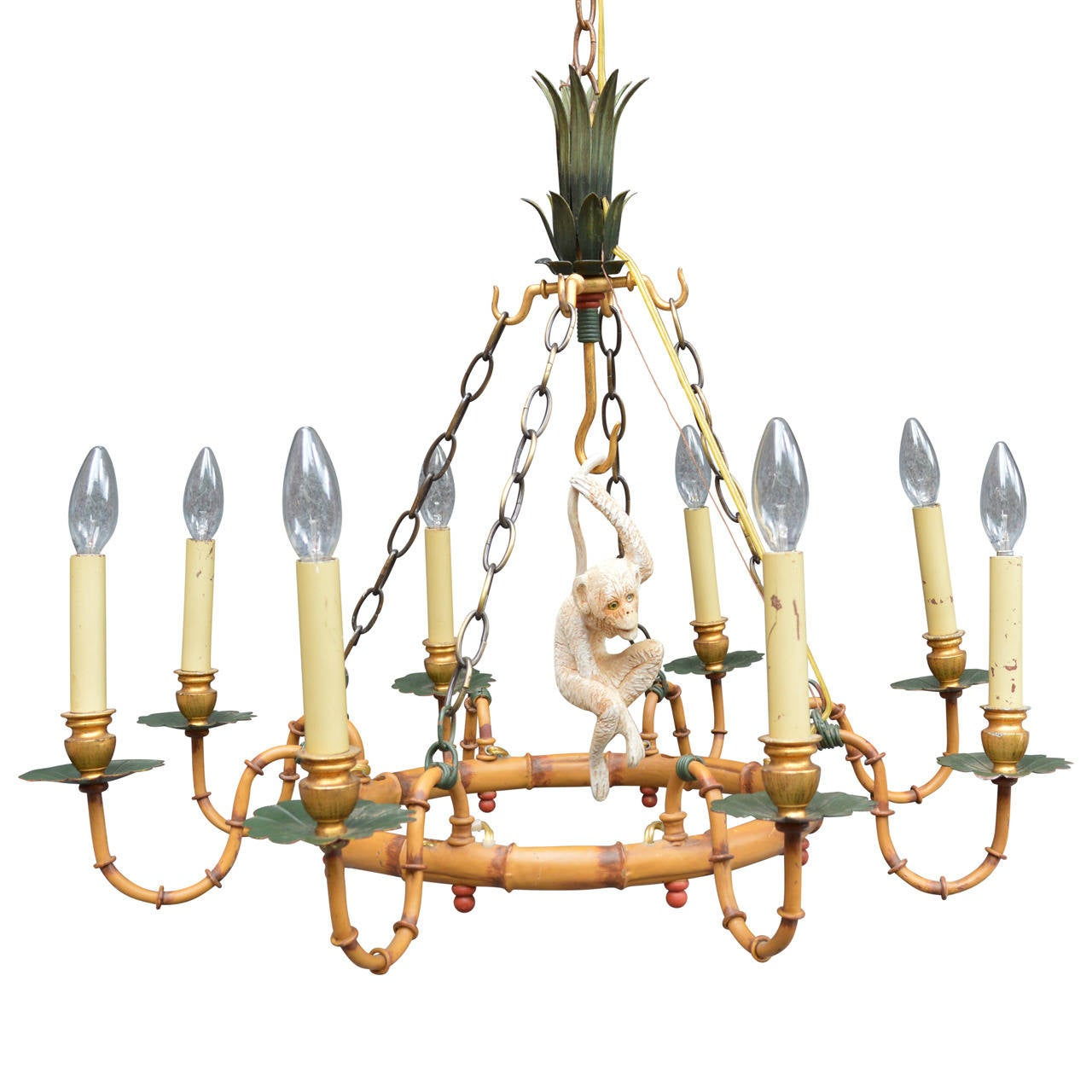 Bamboo monkey chandelier at 1stdibs faux bamboo monkey chandelier at 1stdibs arubaitofo Images