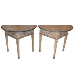 Pair of Consoles With Marble Tops