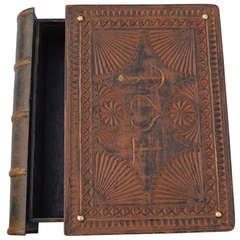 """19th Century, Wooden Bible Box """"Forget Me Not"""""""