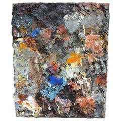 "Lars Dan ""Detritus Blaa"" Rec1 Oil on Canvas"
