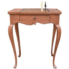 Danish Rococo Chess Game Side Table