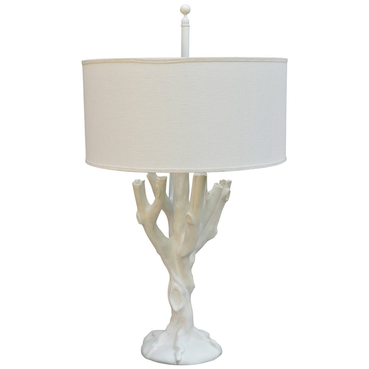 Plaster Tree Lamp in the Style of John Dickinson