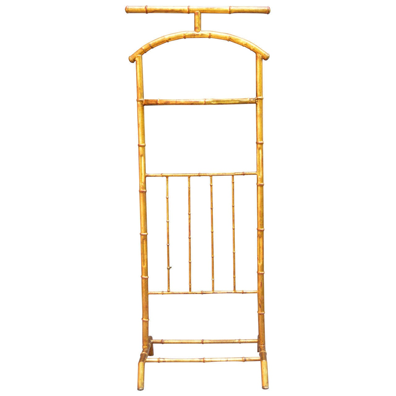 Gilded Faux Bamboo Valet For Sale