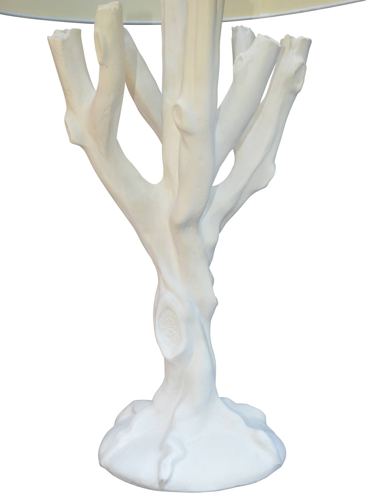 20th Century Plaster Tree Lamp in the Style of John Dickinson For Sale