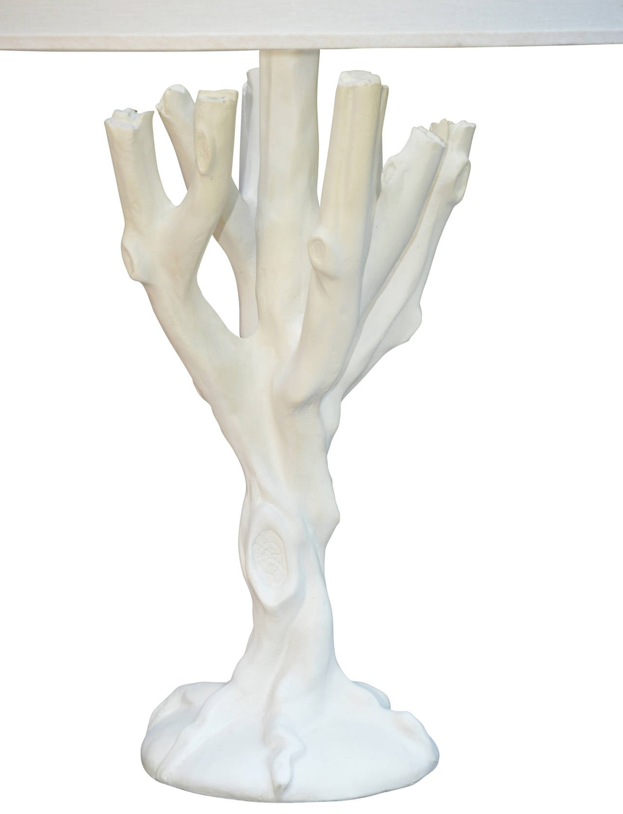 American Plaster Tree Lamp in the Style of John Dickinson For Sale