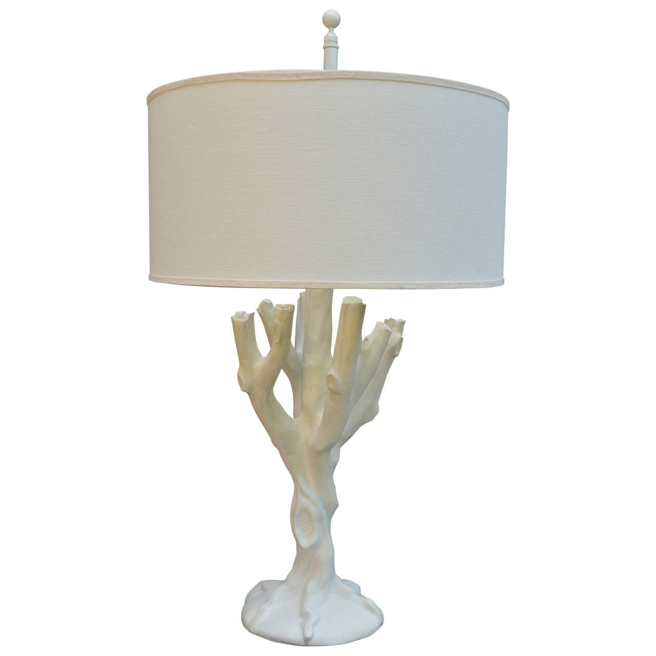 Mid-Century Modern Plaster Tree Lamp in the Style of John Dickinson For Sale