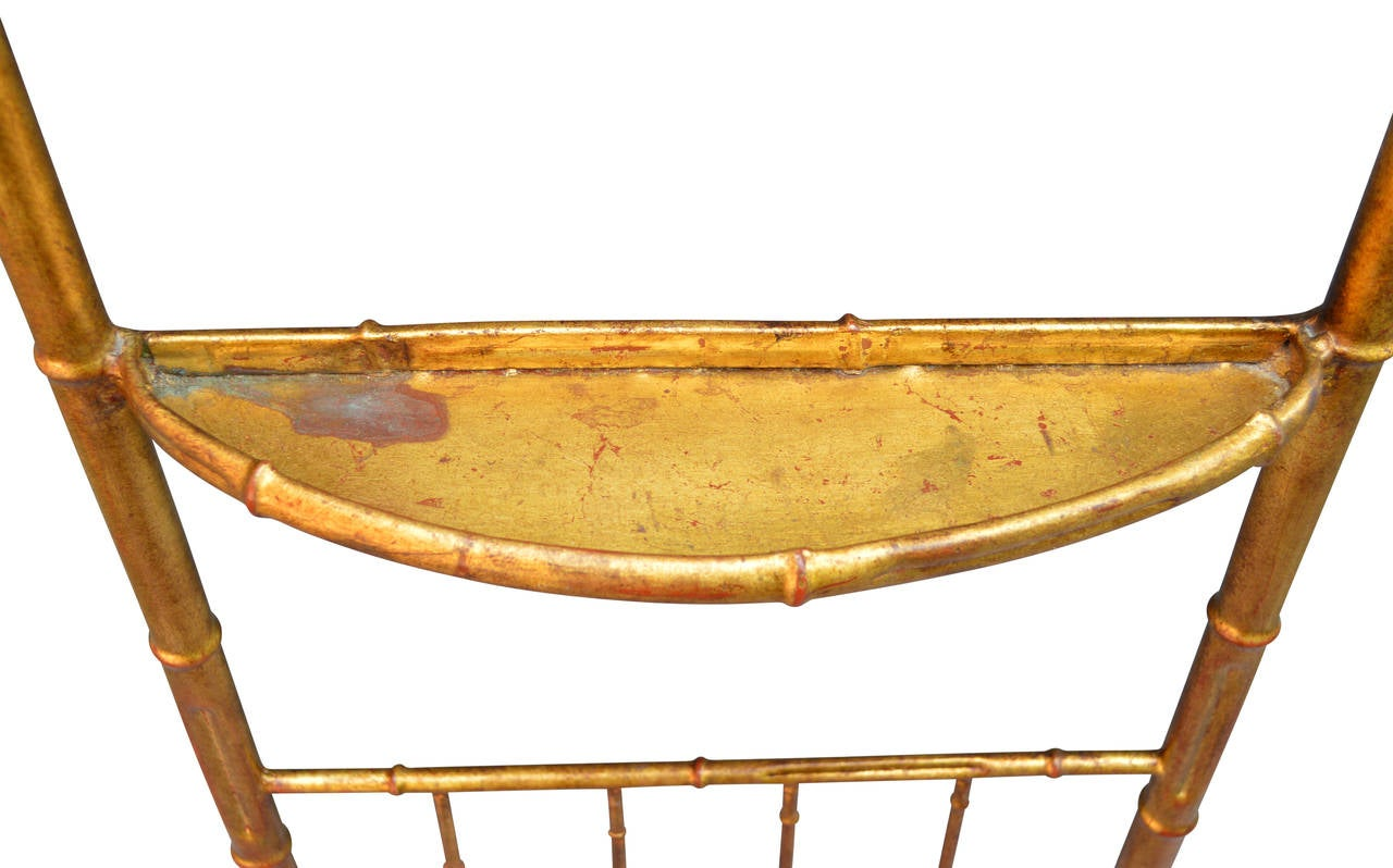 20th Century Gilded Faux Bamboo Valet For Sale
