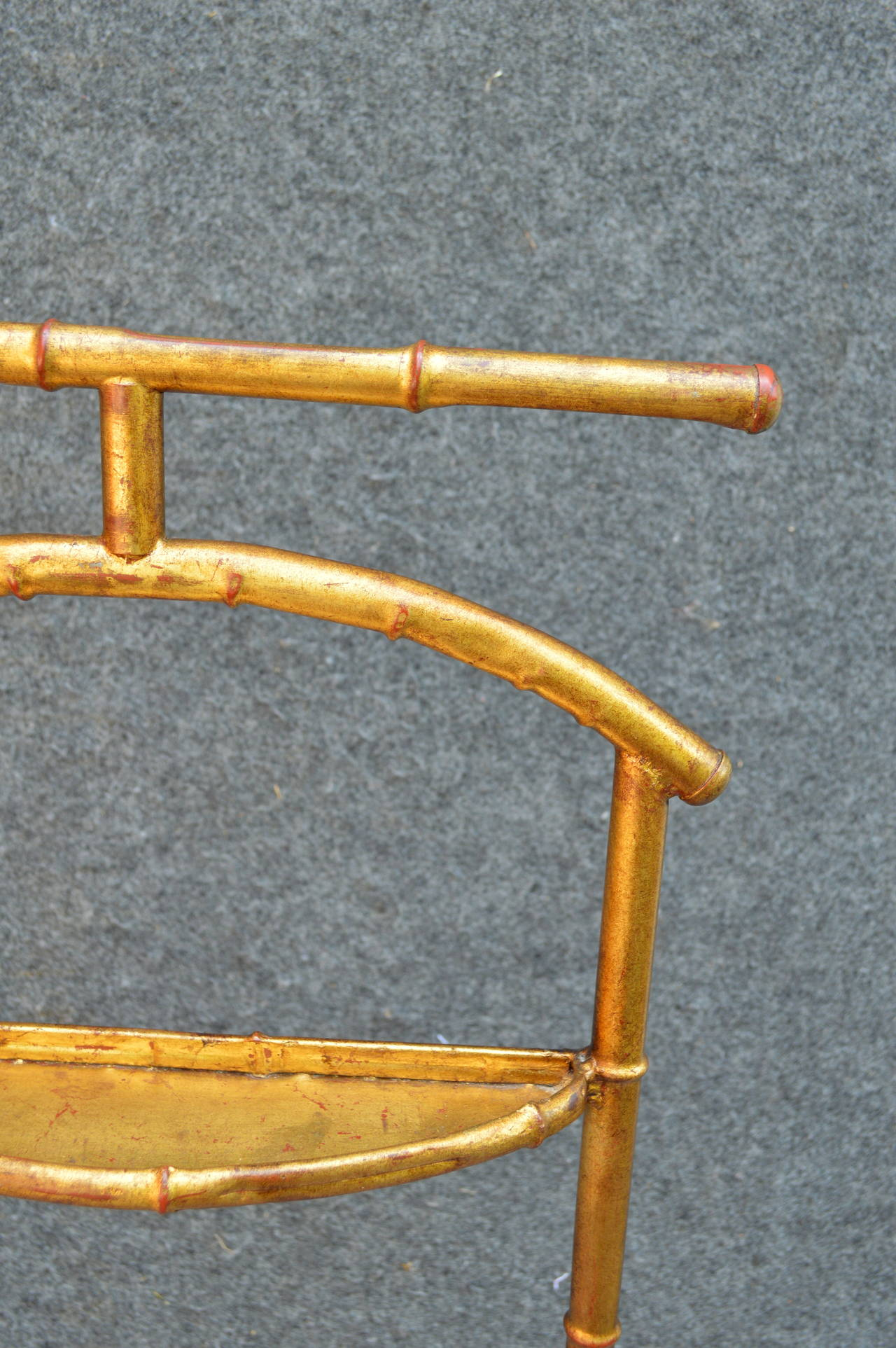 Metal Gilded Faux Bamboo Valet For Sale