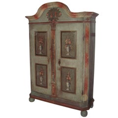 18th-C. Danish Painted Armoire