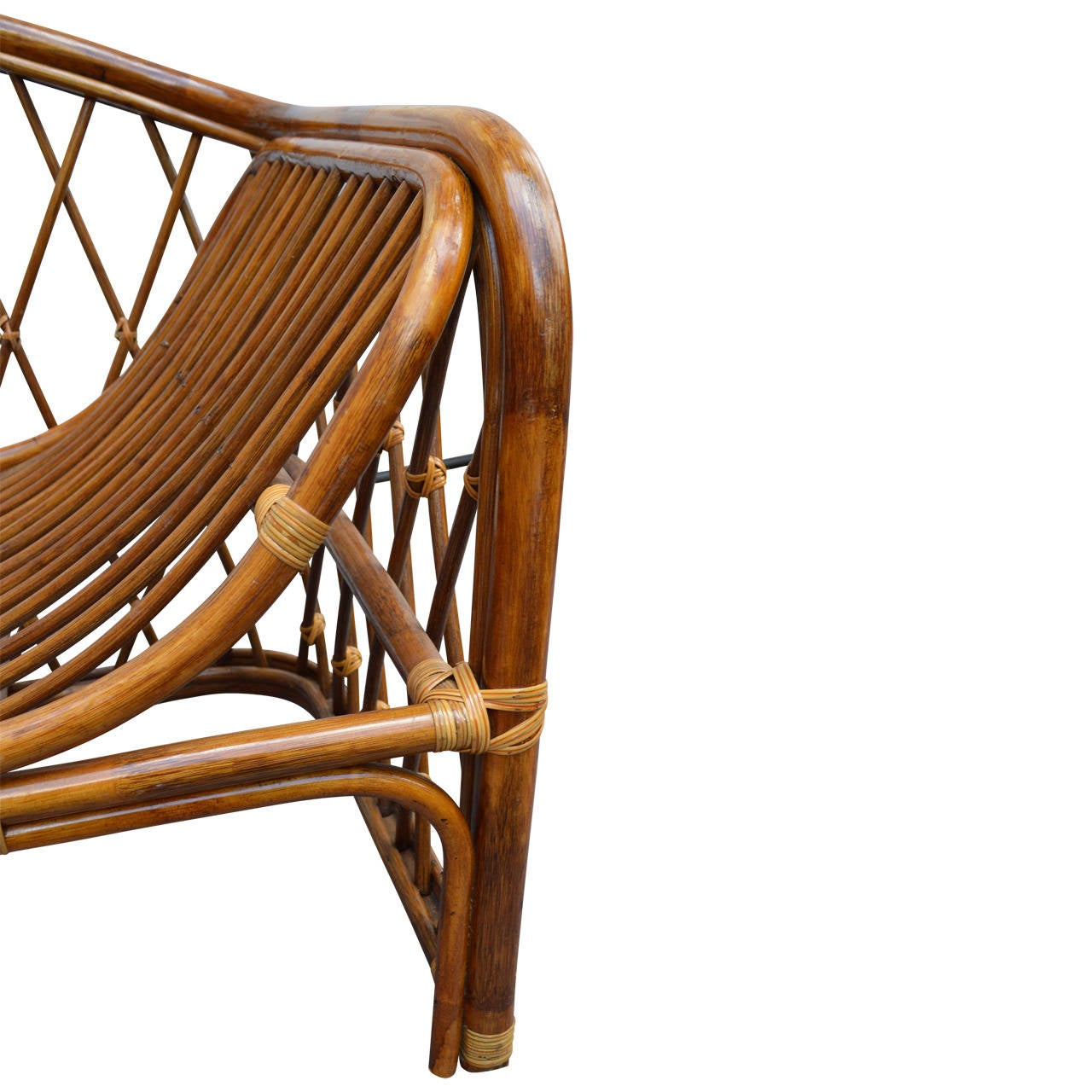 Vintage rattan chaise lounge at 1stdibs for Antique rattan chaise lounge