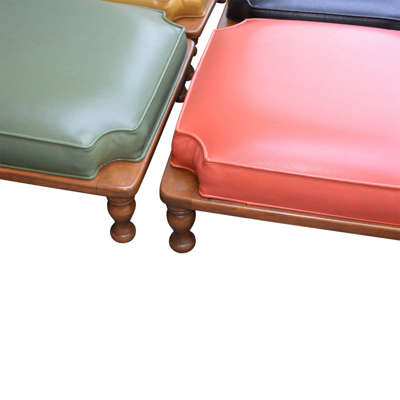 Set of Midcentury Stacking Ottomans 2