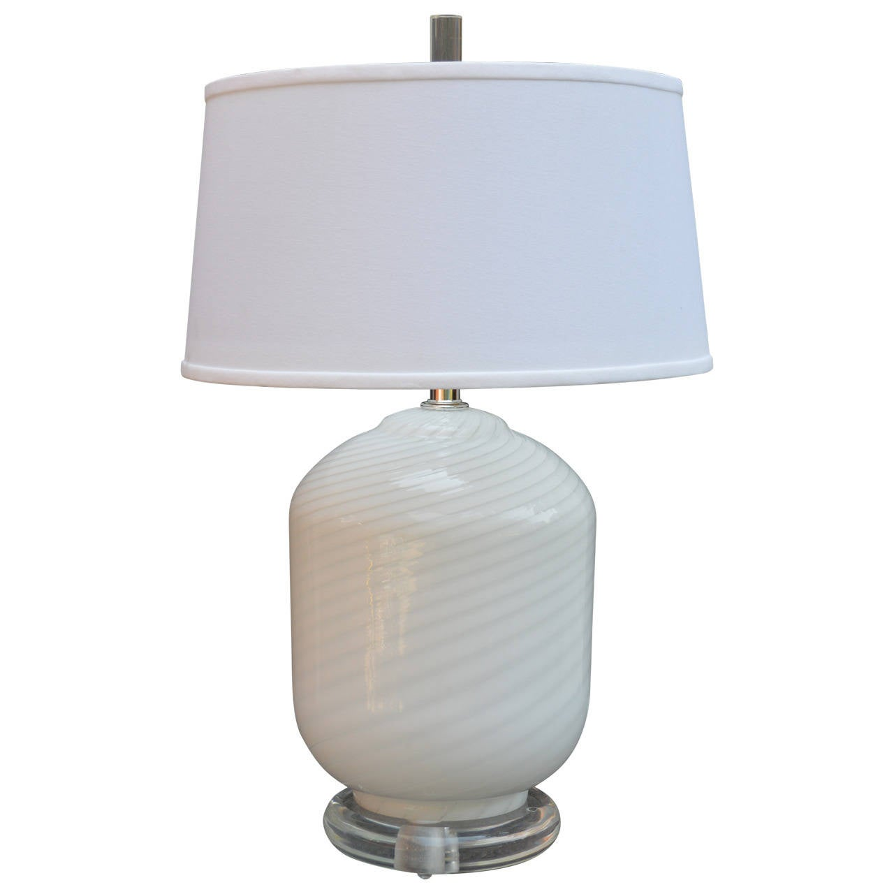 murano vetri glass and lucite table lamp for sale at 1stdibs. Black Bedroom Furniture Sets. Home Design Ideas