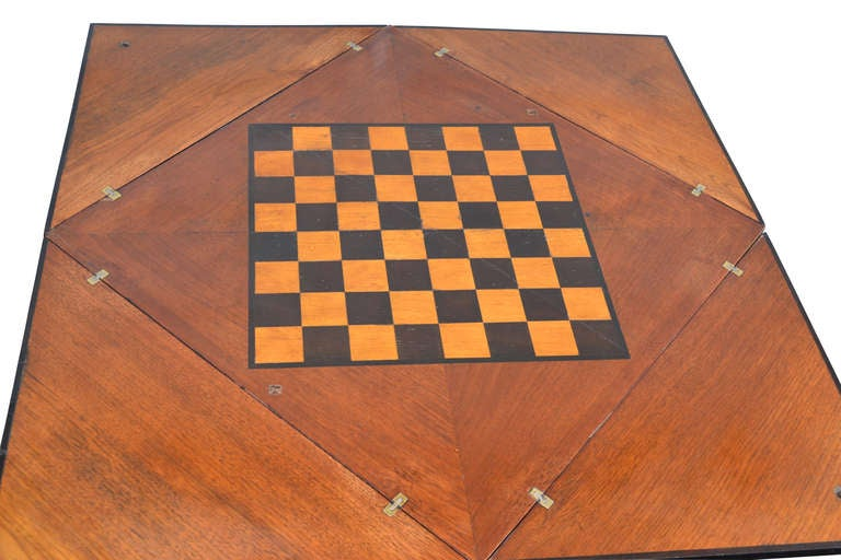19th Century English Folding Game Table 2