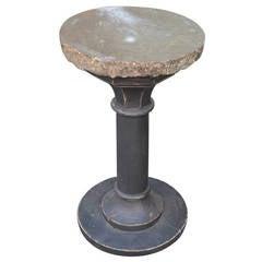 Swedish Stone-Top Pillar Table