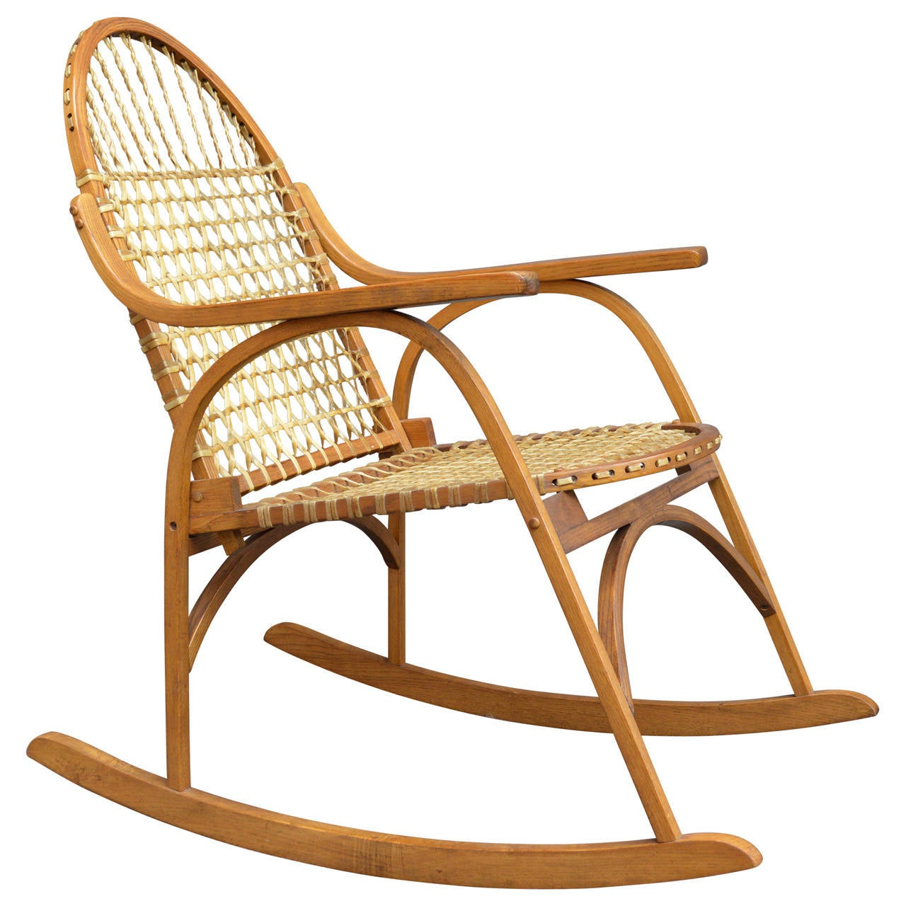 Perfect Vermont Tubbs Snowshoe Rocking Chair 1