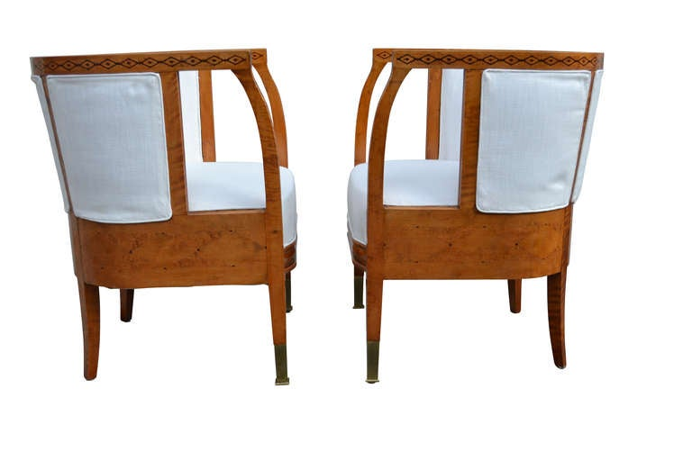 Pair Of Excellent 20th Century Swedish Birchwood Chairs 3