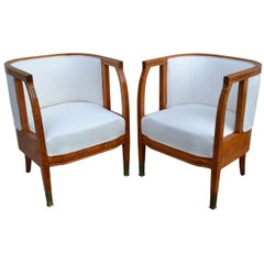 Pair of Excellent 20th Century Swedish Birchwood Chairs