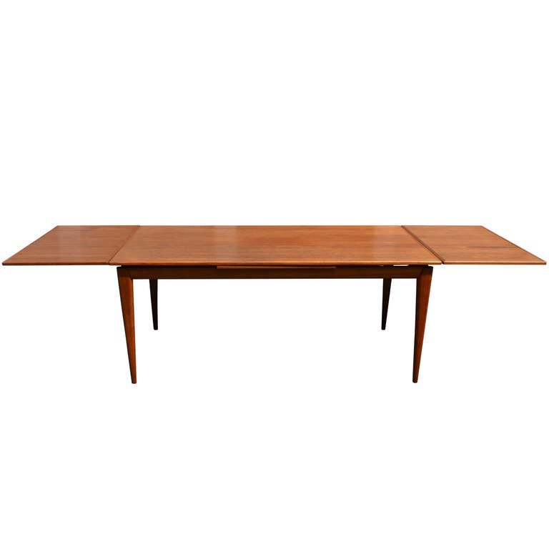 danish teak dining table at 1stdibs