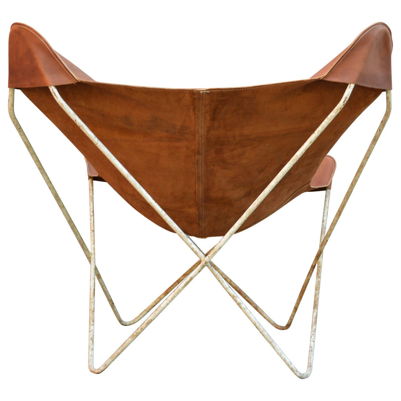 20th Century Rustic Butterfly Chair, Hardoy
