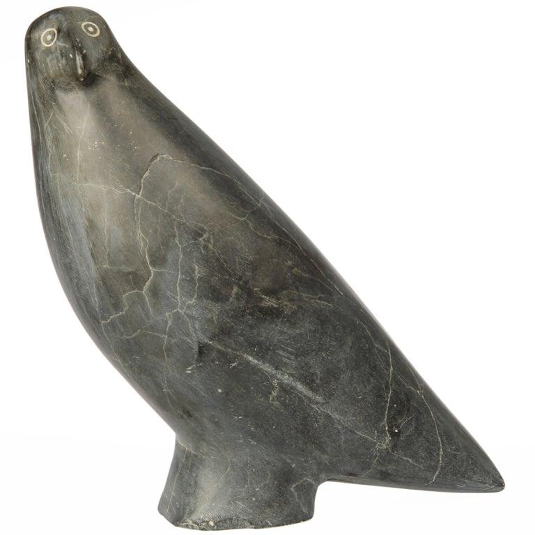 Large inuit northwest coast stone carving of a bird at stdibs